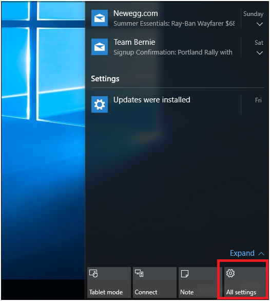 Configuring Windows 10