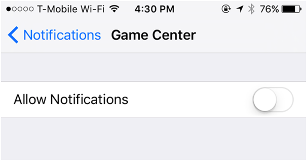 Disable Game Center On iPad and iPhone