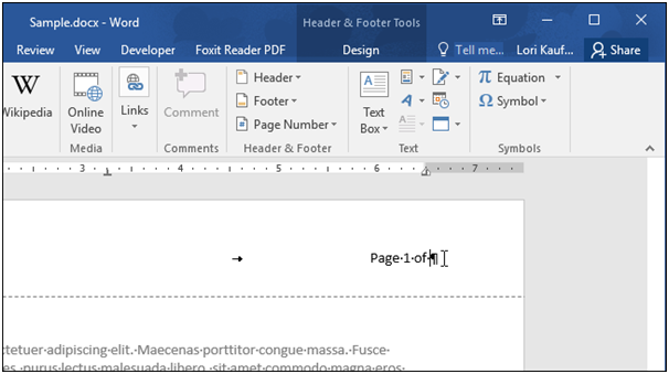 how to delete a page with a header in word