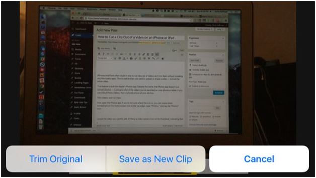 How To Cut A Video Clip On iPhone Or iPad