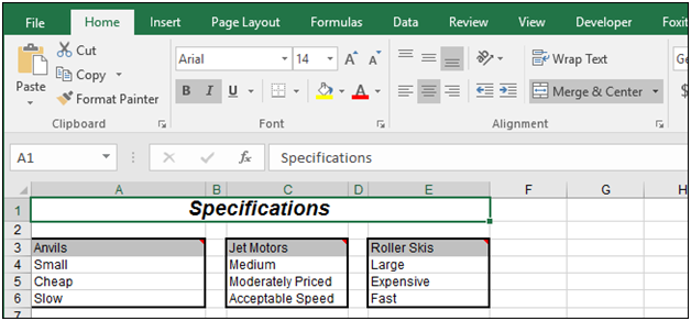How To Center Text Over Multiple Cells In Excel