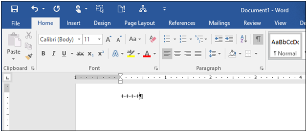 how to create tables in MS Word using keyboard
